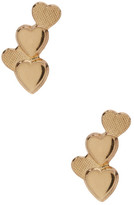 Candela 14K Yellow Gold Four Heart Cluster Stud Earrings