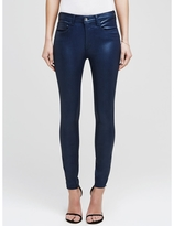 L'Agence The Margot Coated High Rise Ankle Skinny In Blue