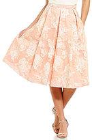 Eliza J Floral Brocade Midi Skirt