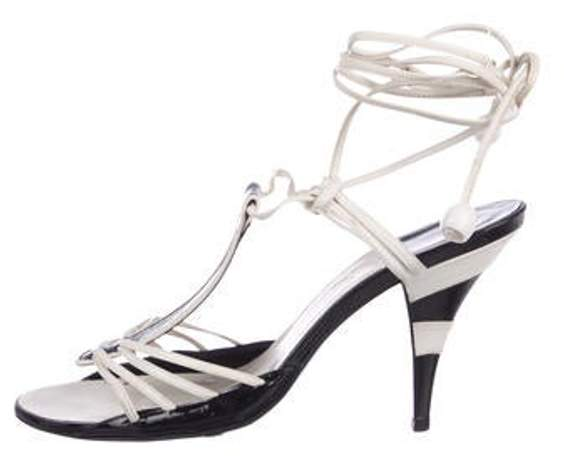 Chanel Leather Sandals White Leather Sandals