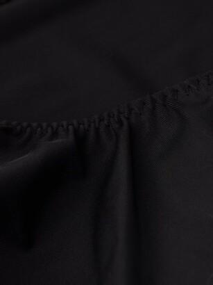 Norma Kamali Scoop-neck Open-back Swimsuit - Black