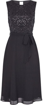 Yumi Sequin Bodice Evening Dress