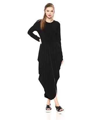 Norma Kamali Women's Long Sleeve Waterfall Dress