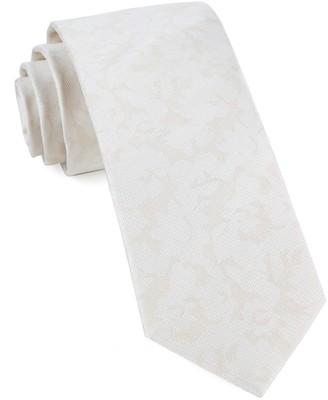 Tie Bar Refinado Floral Light Champagne Tie