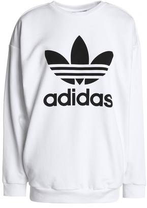 adidas Printed French Cotton-blend Terry Sweatshirt
