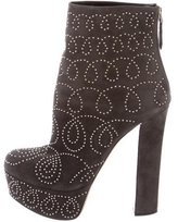Alaia Studded Platform Ankle Boots
