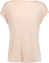 Halston Modal-jersey and crepe top