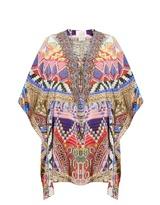 Camilla Dream Weavers-print silk kaftan
