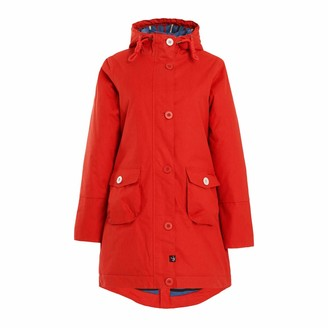Weird Fish Beatrix Waxed Finish Waterproof Coat Burnt Orange Size 10