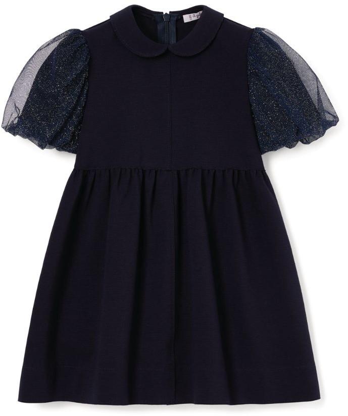 Il Gufo Tulle Puff-Sleeve Dress (3-12 Years)