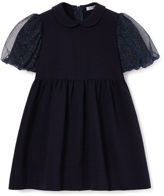 Il Gufo Tulle Puff-Sleeve Dress (3-12 Years)