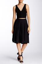 Susina Novelty Hem Skirt (Petite)