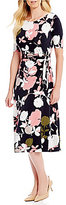 Preston & York Anais Rose Print Ruched Dress