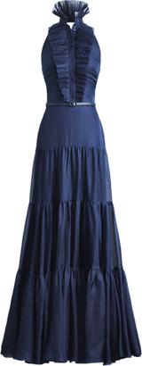 Ralph Lauren Emilia Silk Evening Dress