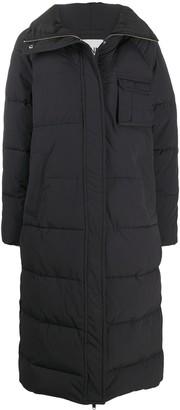Ganni Padded Zip-Up Coat