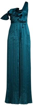 Flor Et. Al Georgina Pleated Asymmetrical Jumpsuit