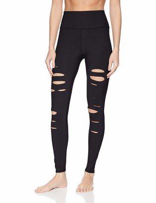 Alo Yoga Women's High Waisted Ripped Warrior Legging