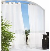 Outdoor Decor Escape 54 by 108-Inch Voile Grommet Top Panel, White