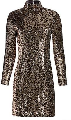 Milly Leopard Sequin Bodycon Mini Dress