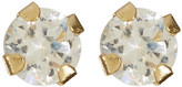 Candela 14K Yellow Gold 2mm Micro CZ Stud Earrings