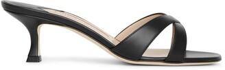 Manolo Blahnik Callamu 50 leather mule sandals