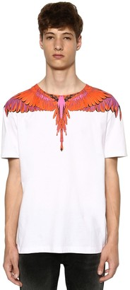 Marcelo Burlon County of Milan PRINTED WINGS COTTON JERSEY T-SHIRT