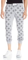 Southpole Men's Jogger Pants In French Terry All Over Small Even Small Star Patterns