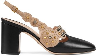Gucci Women's mid-heel pump with studs