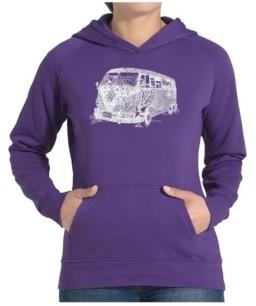 LA Pop Art Women's Word Art Hooded Sweatshirt -The 70's