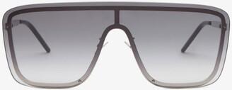 Saint Laurent Shield Metal Sunglasses - Silver
