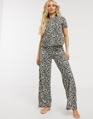 ASOS DESIGN mix & match leopard print pyjama trouser in multi