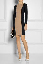 Michael Kors Color-block stretch-wool dress