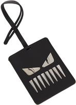 Fendi Faces leather luggage tag