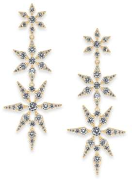 Eliot Danori Gold-Tone Cubic Zirconia Triple Star Drop Earrings, Created for Macy's