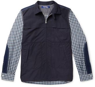 Junya Watanabe Patchwork Checked Cotton Zip-Up Overshirt