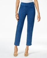 Alfred Dunner Petite Indigo Girls Cropped Pull-On Jeans