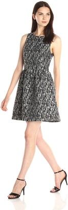 Kensie Women's Abstract Brocade Dress