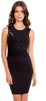Donna Mizani Splice Lace Dress in Caviar