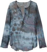 Raquel Allegra printed v-neck blouse