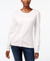 Karen Scott Petite Pointelle Cardigan, Only at Macy's