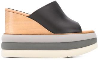 Paloma Barceló Colour-Block Wedge Sandals