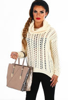 Pink Boutique Anarchy Cream Open Knit Jumper