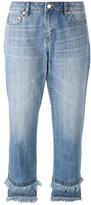 MICHAEL Michael Kors raw hem cropped jeans - women - Cotton - 2