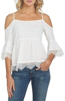 1 STATE Women's 1.state Cold Shoulder Lace Blouse