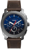 Fossil Men's Machine Leather Watch, 45mm