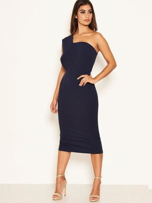 AX Paris One Shoulder Bodycon Dress - Navy