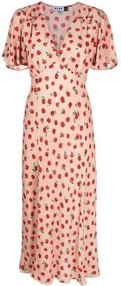 Rixo 'Bessie' rose prin midi dress