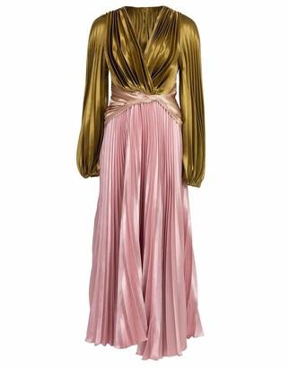 Peter Pilotto Pleated Liquid Satin Gown