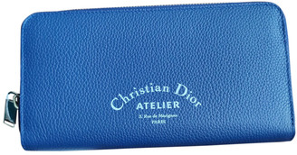 Christian Dior Blue Leather Small bags, wallets & cases