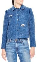 Sandro Women's Tweed Crop Jacket